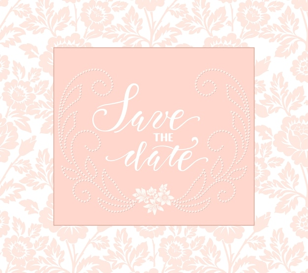 Wedding invitation and announcement card with floral artwork. Free Vector