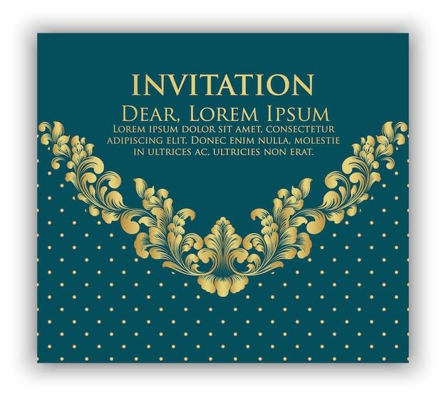 Invito a nozze e carta di annuncio con grafica di sfondo floreale. elegante sfondo floreale ornato. sfondo floreale ed eleganti elementi floreali. modello di progettazione. Vettore gratuito