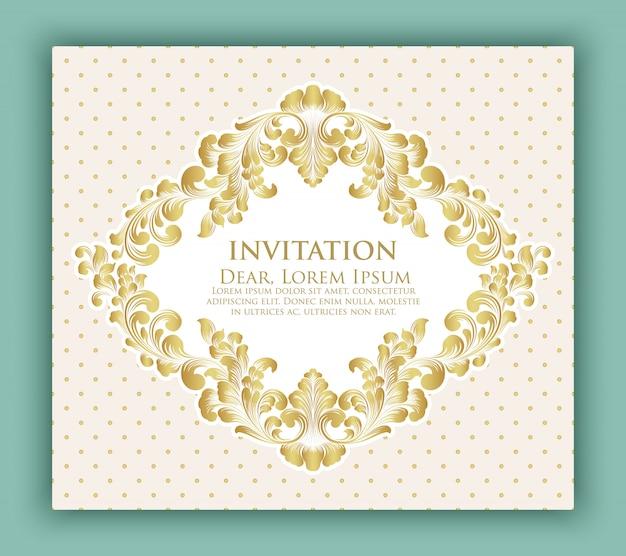Invito a nozze e scheda annuncio con disegno floreale Vettore gratuito