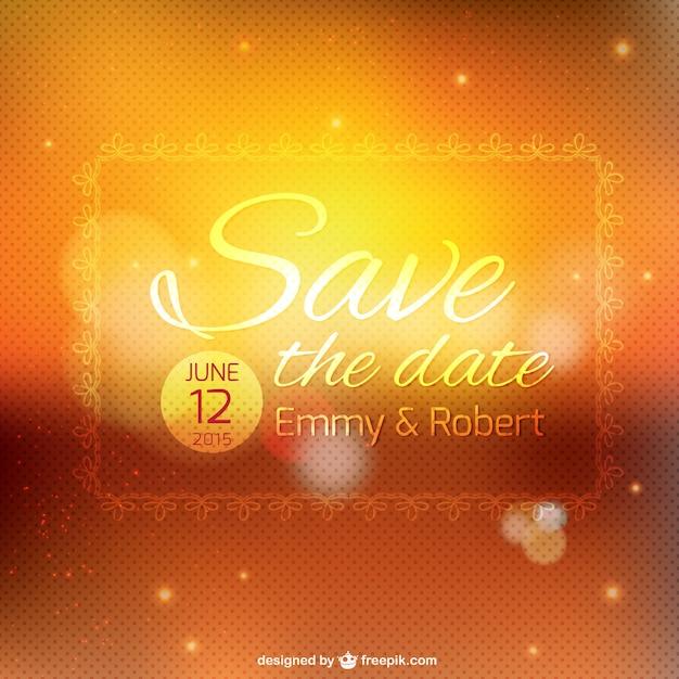 Wedding invitation bokeh template Vector   Free Download