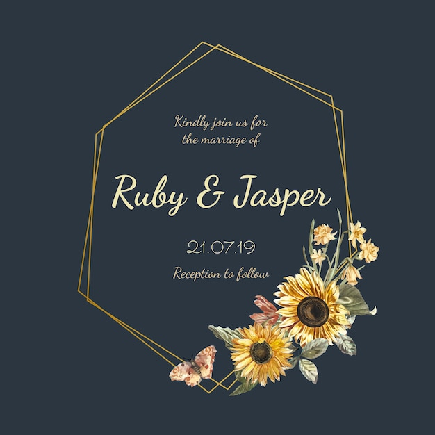 Wedding Invitation Card Mockup Vector Vector Free Download
