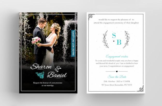 black invitation card design template