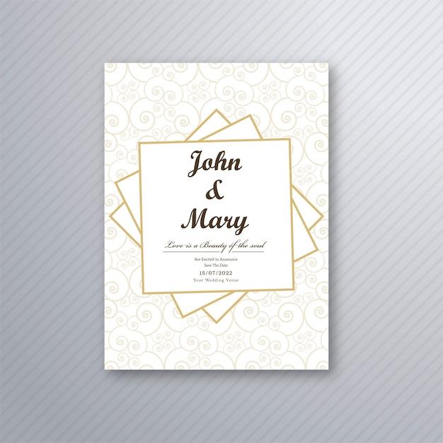 Wedding Invitation Card Template Vector Vector Free Download