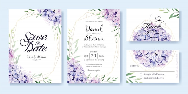 Wedding Invitation Card Sample: Wedding Invitation Card Template Vector