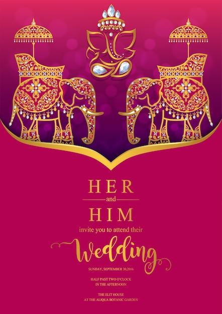 Wedding Invitation Card Templates Vector Premium Download