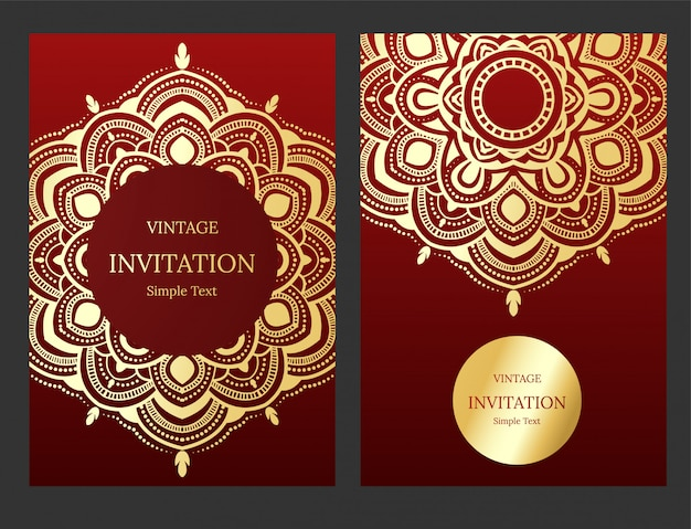 Wedding Invitation Or Card With Abstract Background Vector