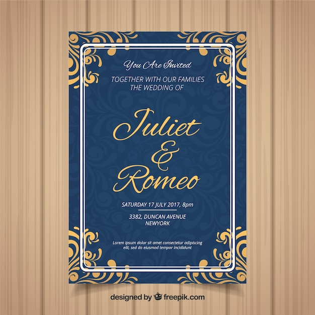 Invitation Party Wedding Free Vector Graphic On Pixabay: Wedding Invitation Card With Different Ornaments Vector