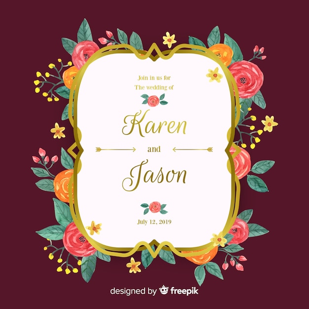Wedding Invitation Card Vector Free Download
