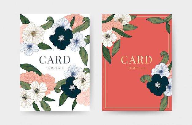 Wedding Invitation Cards Design Template Vector Premium