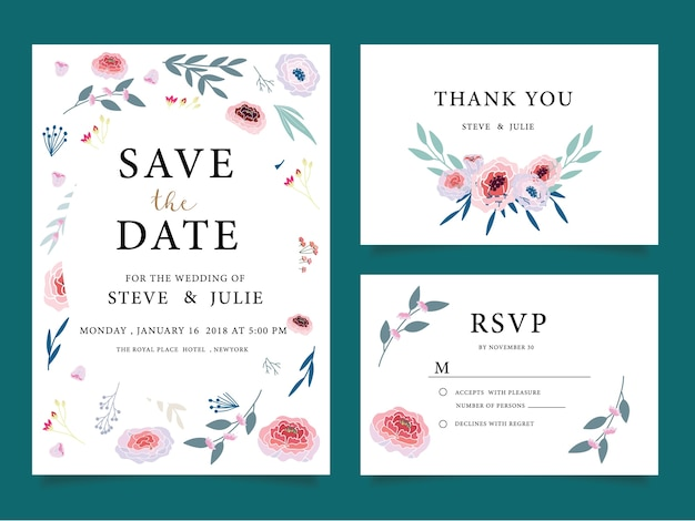 Wedding Invitation Cards Thank You Card Wedding Stationery