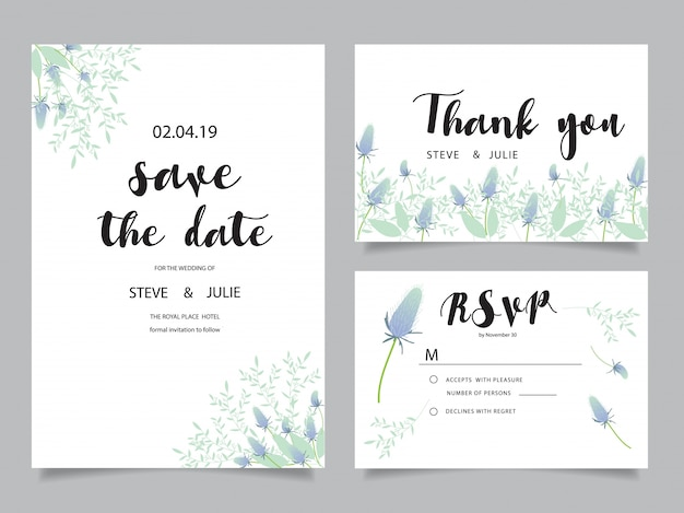 Wedding Invitation Thank You Cards Veenvendelbosch
