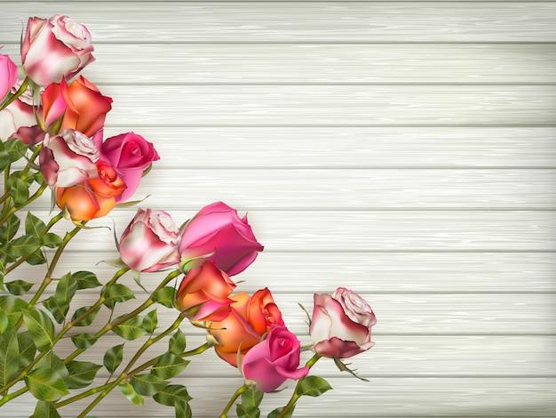 花の要素を持つ結婚式の招待カード。含まれるファイル Premiumベクター