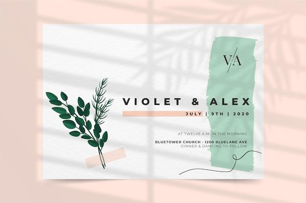 Wedding invitation concept Free Vector