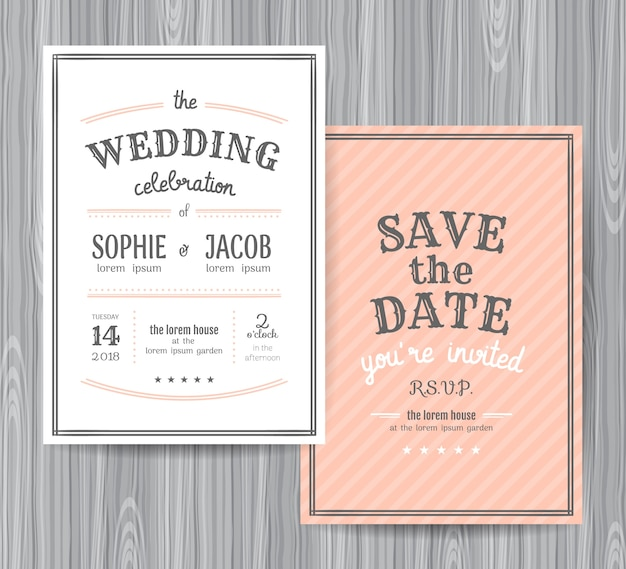 wedding invitation design template