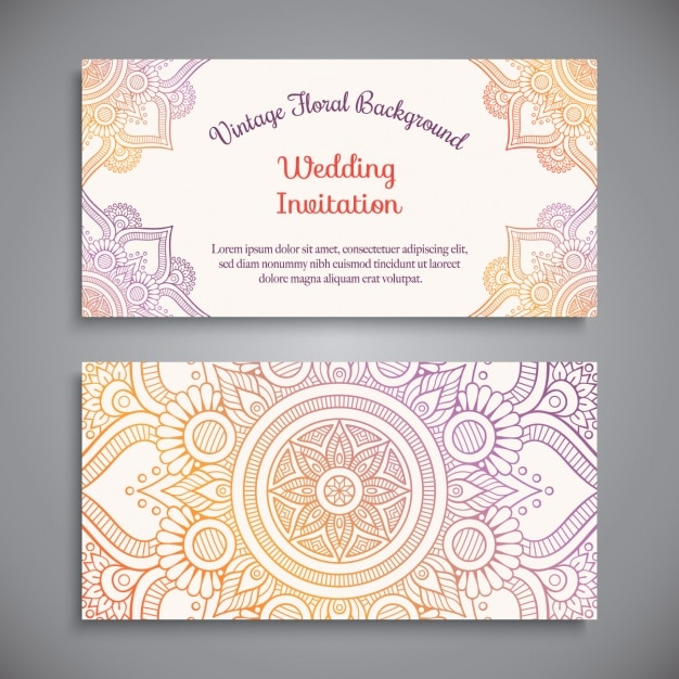 wedding invitation design vector free download With wedding invitation design freepik