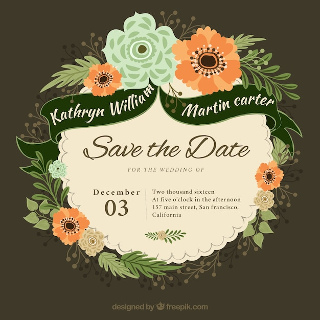 Wedding background vectors photos and psd files free download wedding invitation in flat design stopboris Gallery