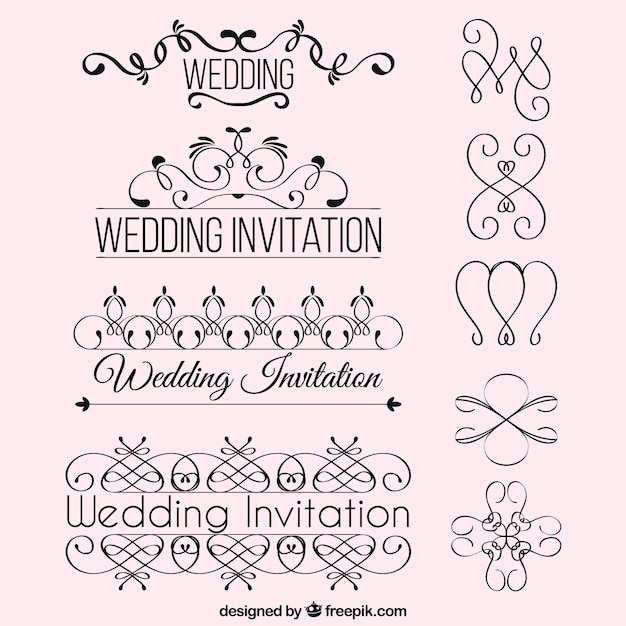 Wedding invitation ornaments vector free download wedding invitation ornaments free vector stopboris Choice Image