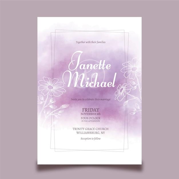 Wedding Invitation Template Concept Vector Free Download
