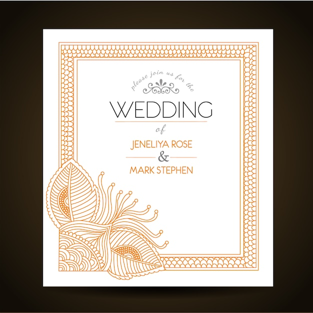 Wedding invitation template Vector – Party Invitations Templates Free Downloads