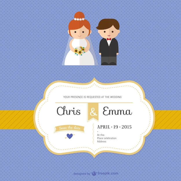 Wedding invitation template vector free download wedding invitation template free vector stopboris Gallery