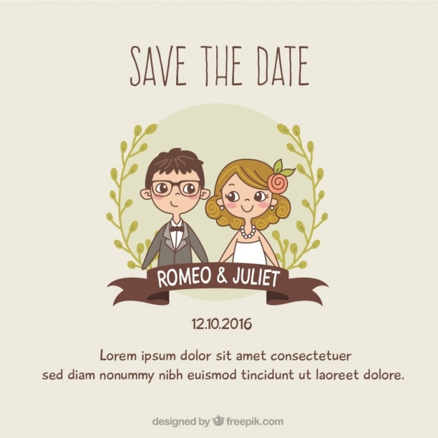 Wedding invitation template vector free download wedding invitation template free vector stopboris Image collections