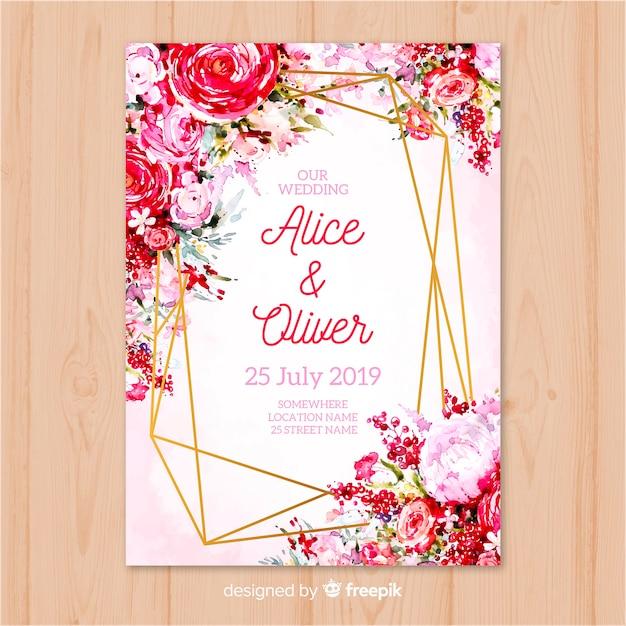 Wedding invitation template Vector | Free Download
