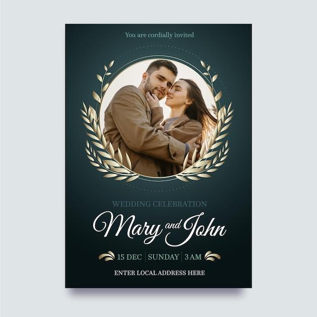 Modello di invito a nozze Vettore gratuito