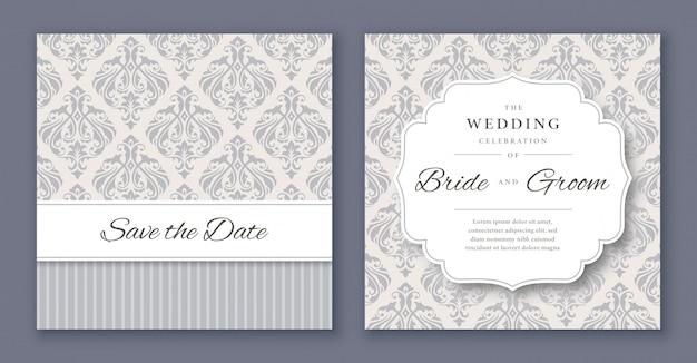 Wedding invitation template Premium Vector
