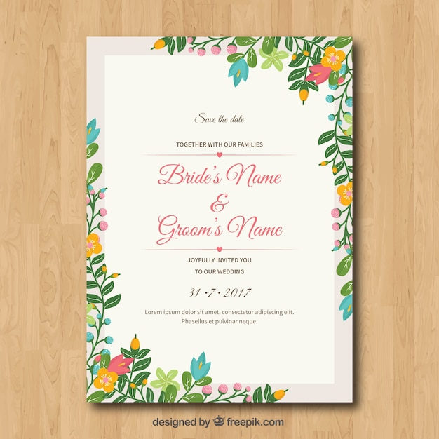 Wedding Card Vectors Photos and PSD files – Marriage Invitation Card Text