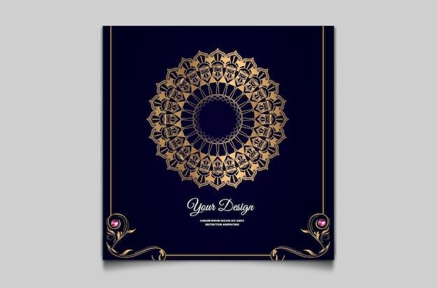Свадебные приглашения с роскошным шаблоном дизайна Premium векторы
