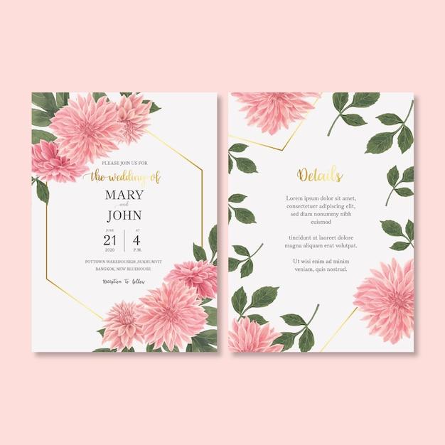 Wedding invitation with romantic foliage Free Vector