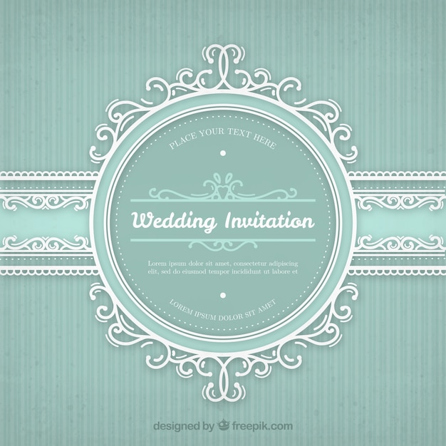 Wedding invitation with vintage frame vector free download wedding invitation with vintage frame free vector stopboris Image collections