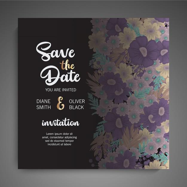 Приглашение на свадьбу Бесплатные векторы