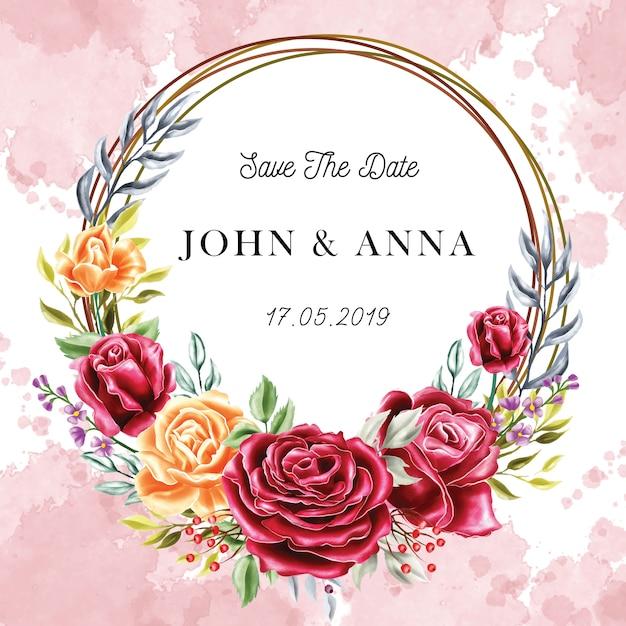 Wedding invitation Premium Vector