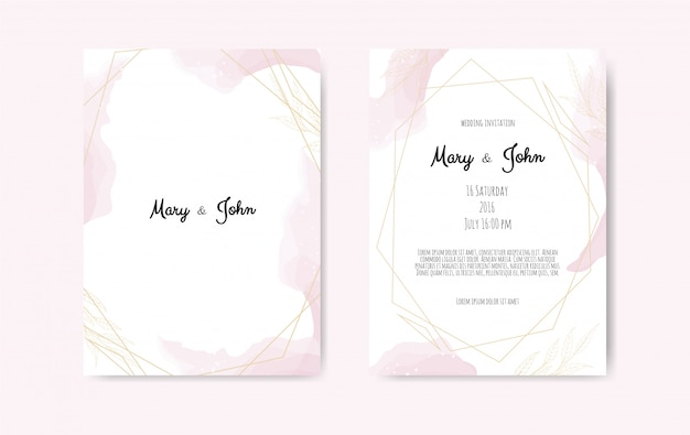 Wedding invite Premium Vector