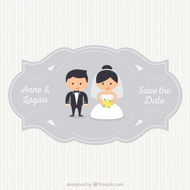 Wedding Label Vector  Free Download