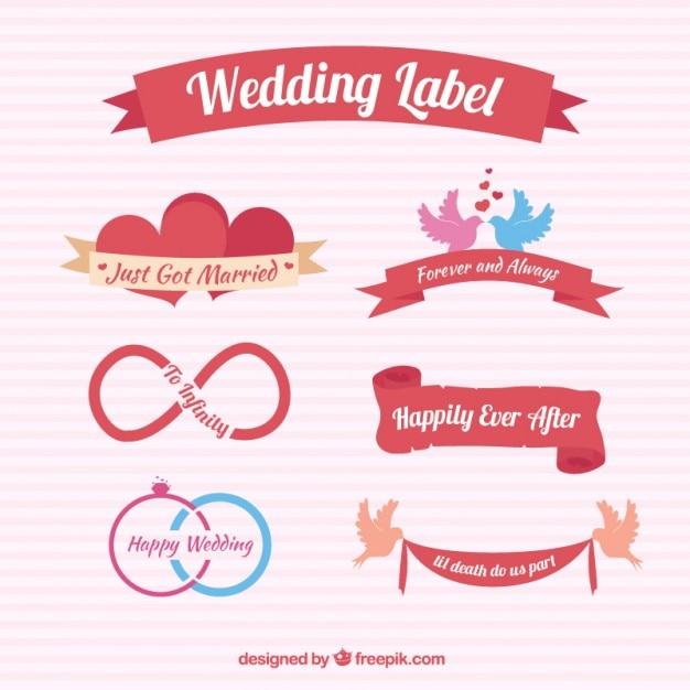 wedding labels designs vector free download