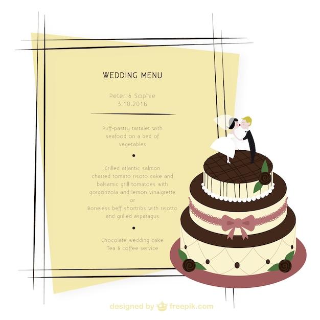 Wedding menu Free Vector