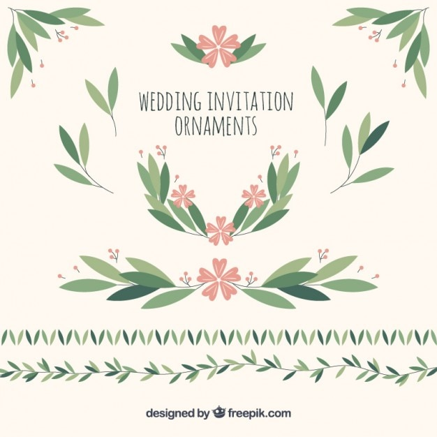Wedding ornaments of leaves and flowers vector free download wedding ornaments of leaves and flowers free vector stopboris Choice Image