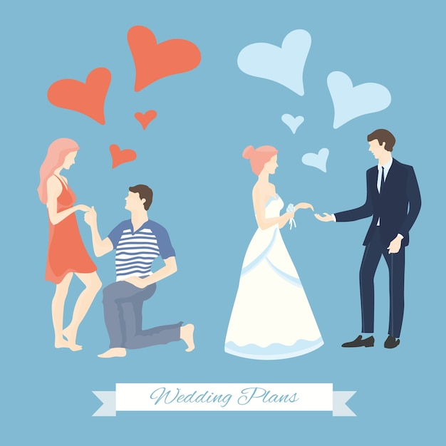 Wedding Plans Vector | Premium Download