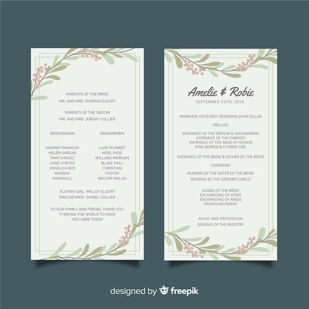 wedding program free download