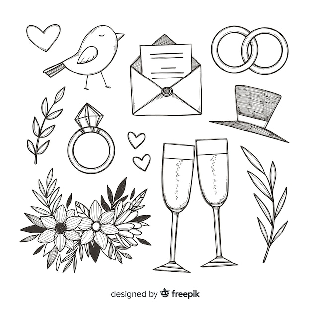 Wedding proposal concept Free Vector