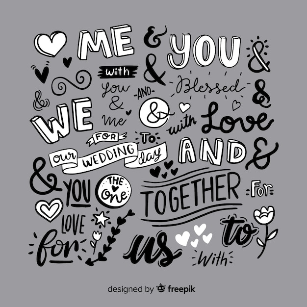 Wedding quotes and ampersands Vector | Free Download