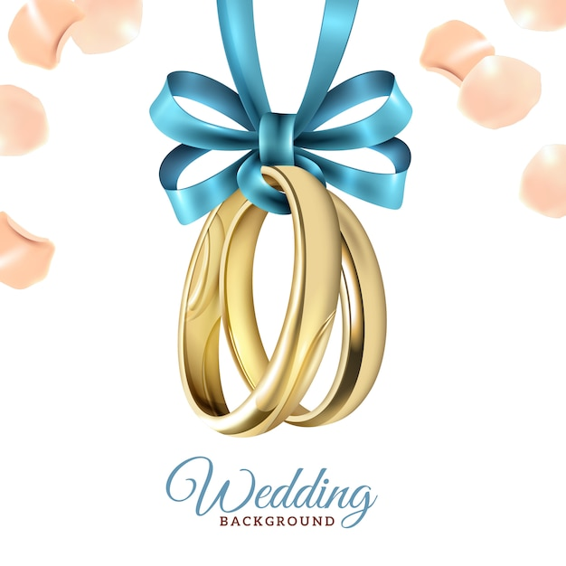 Wedding realistic background Free Vector