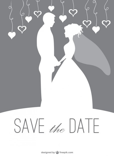 Wedding silhouette couple invitation vector free download wedding silhouette couple invitation free vector junglespirit Choice Image