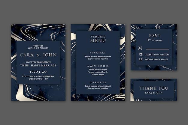 Шаблон свадебного бланка Premium векторы