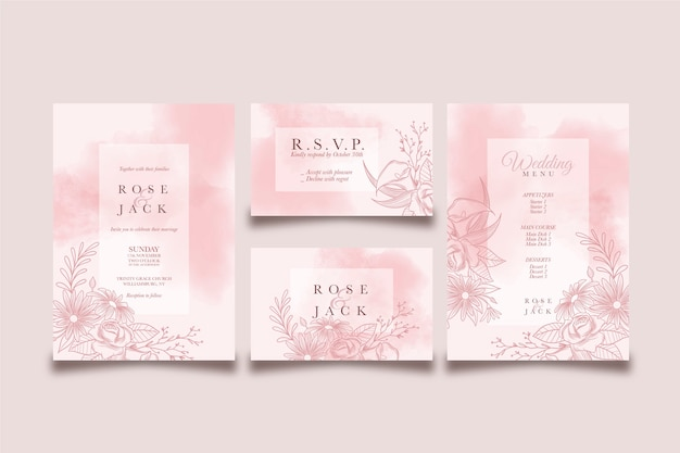 Wedding template concept and design Free Vector