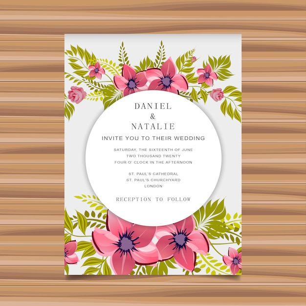 Wedding vector floral invitation vector premium download wedding vector floral invitation premium vector stopboris Image collections