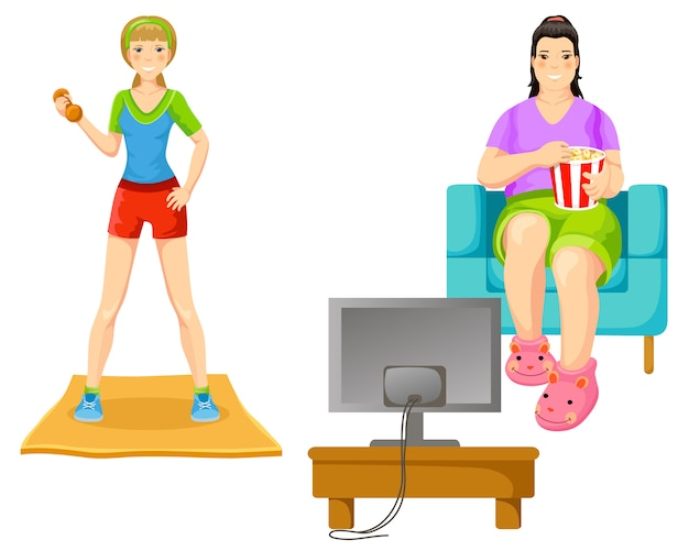Weight loss concept Free Vector