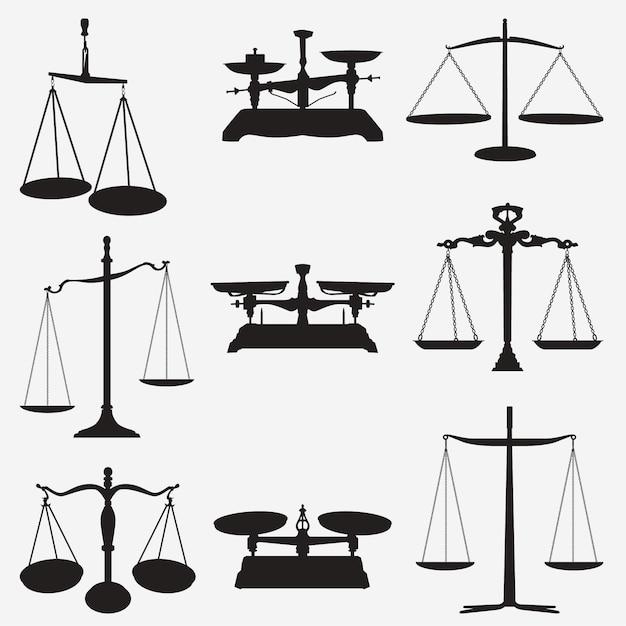 Weights scales Premium Vector